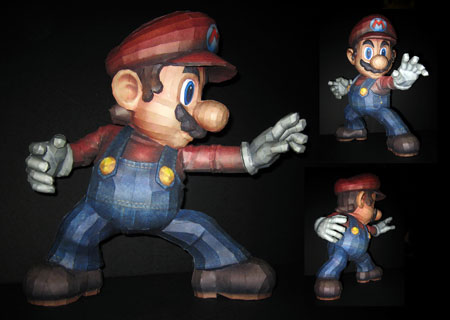 Super Smash Bros. Brawl Mario Papercraft